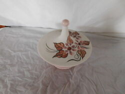 Mid Century Modern Pink Covered Dish Arnels 60s Table Top Mcm Pottery Vintage