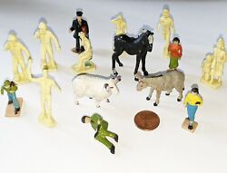 Lot Of Vintage Of O Scale Figures From Model Railroad Train Set