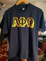Vintage Alpha Phi Omega Fraternity Shirt Screen Stars Made In Usa L