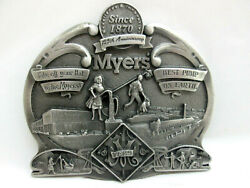 Rare Fe Myers Pump Co 125th Anniversary Medallion Pewter Metal Casting