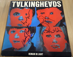 Talking Heads Signed Lp Remain In Light X4 David Byrne Chris Tina And Jerry Rare