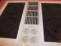 Jenn Air C236w Electric Cooktop With Downdraft Multi Burners And Grill