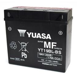 Motorcycle Battery Bmw 12v/17.7ah Yuasa Yt19bl-bs Sealed With Acid To Kit