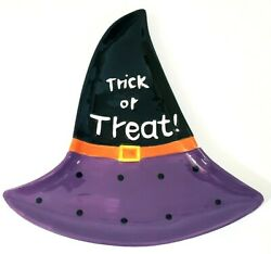 Mode Imports Halloween Witch's Hat Cookie Candy Dish 11.75 X 11.5 Nwt