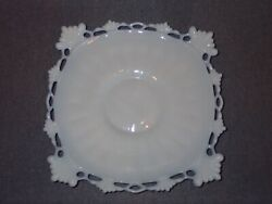 Early Victorian Pre 1850 French Milk Glass Wine Bottle Coaster Plate Ring And Fan