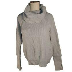 41 Hawthorn Sweater Cowl Neck Cable Knit Medium