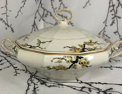 Myott, Son And Co. Antique 1901-1921 Serving Dish Tureen Japanese Maple Pattern
