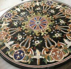 42 Marble Dining Table Top Inlay Rare Semi Round Center Coffee Table Ar1264