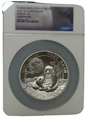2016 China 10 Oz 999 Silver Panda Moon Festival Medal High Relief Ngc Gem Proof