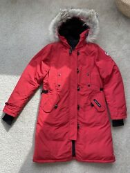 Canada Goose Kensington Parka Red Women Size M barely used $499.00