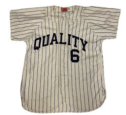 Vintage 50andrsquos King Oandrsquoshea Quality Menandrsquos 6 Flannel Wool Baseball Jersey Size 40