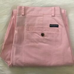 Nwt-men's Brooks Brothers Pink Clark Chinos 34x30