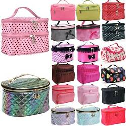 Women Large Makeup Cosmetic Bag Case Toiletry Wash Organiser Storage Box Pouch $9.97