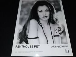Aria Giovanni Hand Signed Photo 8x10 Avn Star Model Authentic Autograph
