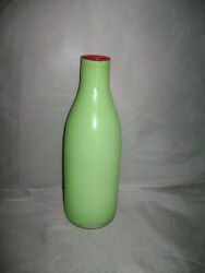Villeroy And Boch Vase 10 Green Red China Made In Germany Rare