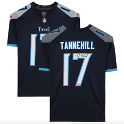 Ryan Tannehill Tennessee Titans Signed Blue Nike Game Jersey