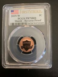 2019 W Reverse Proof Lincoln Shield Cent 1c Pcgs Pr70 First Strike