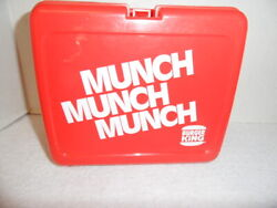 Vintage Collectible Burger King Munch Munch Munch Plastic Lunch Box With Thermos