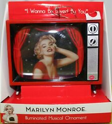 Marilyn Monroe Musical Tv Ornament I Want To Be Loved Christmas Decorations New