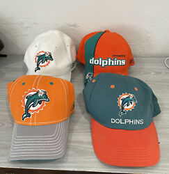 Vintage Miami Dolphins Hat Lot Of 4