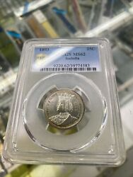 1893 Isabella Commemorative Quarter. Pcgs Ms62. White And Stunning. Must See