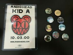 Radiohead Kid A Promo October 3rd 2000 Post Card W/ Buttons Rare New York City