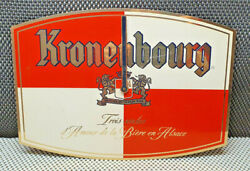 Antique Clock Sheet Metal Advertising Kronenbourg Brewers From 1664 Collection