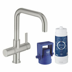 Grohe Blue Pure Tap For Sink Satin Effect Stainless Steel 31299dc1