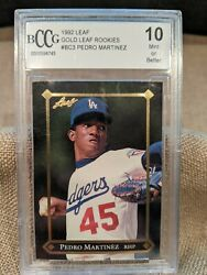 1992 Leaf Gold Rookie Pedro Martinez Bccg 10 Tough Card Look Invest