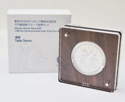 Tokyo 2020 Olympic Table Tennis Proof Currency Coin 1000 Yen Series