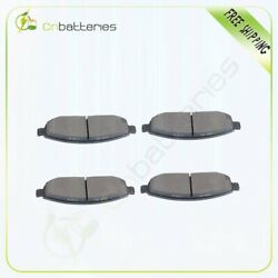 4x Front Low Dust Ceramic Brake Pads For 2006-10 Jeep Commander/grand Cherokee