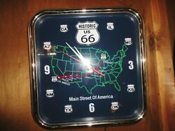 Route 66 Llighted Wall Clock
