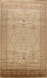Vegetable Dye Floral Traditional Agra Oriental Area Rug Wool Hand-knotted 10x14