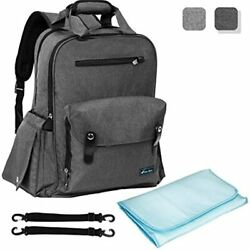 Baby Backpack Diaper Bag Large Capacity Multi Functional Travel Nappy Maternity $35.66