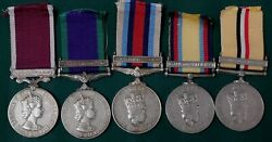 Uk Five Medal Group Royal Army Medical Corps- Wo 2 D.a. Roper