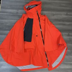 Nike Lab Acg Gore-tex 3 In 1 Women Black Red Poncho Size Small Ar4542 010