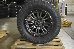 20x9 Fuel D680 Rebel Gray Wheels 35 Nitto At Tires 6x135 Ford F150 Raptor