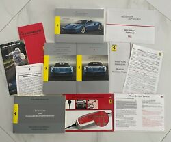 2018 Ferrari 488 Spider Owners Manual Complet Set + Leather Case With Logo
