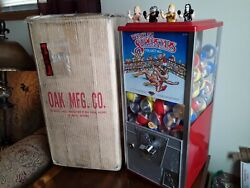 Wrestling Superstars Ljn Andnbsp Gumball Vending Machine With Nos Toys Card