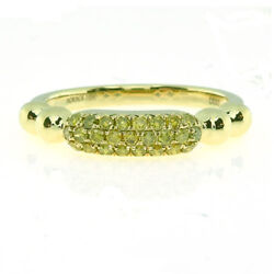 Real 0.31ct Natural Fancy Yellow Diamonds Engagement Ring 18k Solid Gold