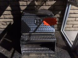 24' Tool Box Container With Steps Semi Truck Tractor Trailer
