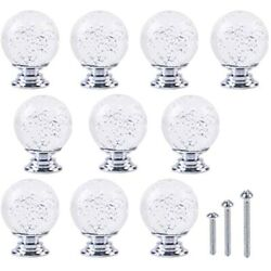 Fine Tools 10 Pack Crystal Bubble Ball Knobs Cabinet Dresser Door Drawer