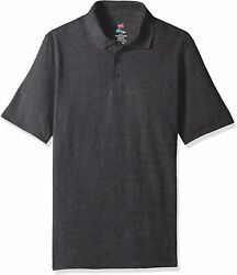 Hanes Menand039s Short Sleeve X-temp Polo With Freshiq