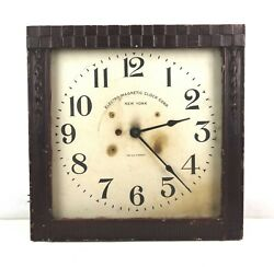 Very Rare Antique Electric Movement Electro-magnetic Clock Corp Clock Case