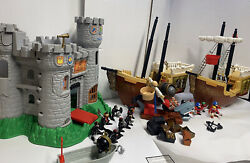 Fisher Price Great Adventures Medieval Castle And Pirates Huge Lot 50+pcs 1994