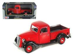 1937 Ford Pickup Truck 124 Diecast Model Red - Motormax - 73233rd