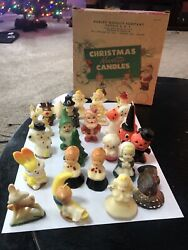 Vintage Gurley Holiday Candles Lot Of 24 With Box