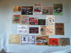 46 Nash Car Club Dash Plaques - Grand National-central And Eastern Divisionals