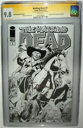 Walking Dead 1 Ethan Van Sciver Signed Ss Cgc 9.8 Wizard World Chicago Sketch