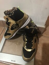 Zumba Energy Boom High Tops Black And Gold Us 9.5